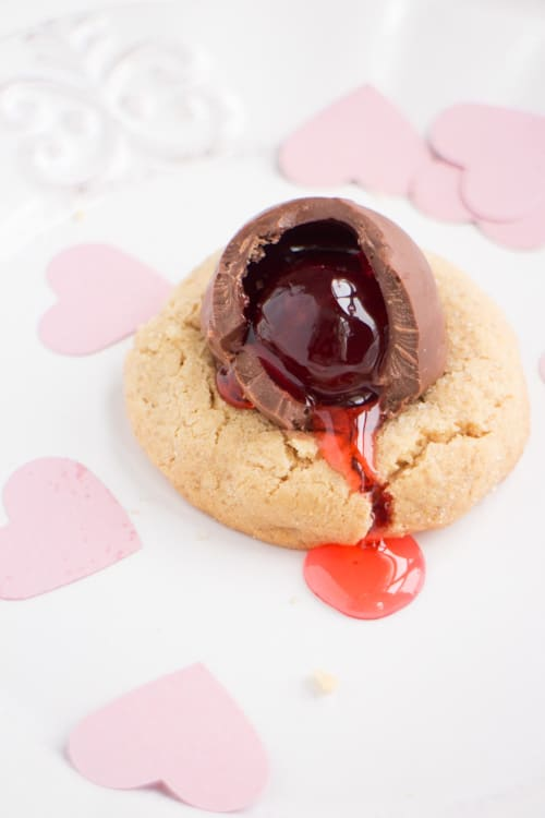 Chocolate Covered Cherry Peanut Butter Cookies_8
