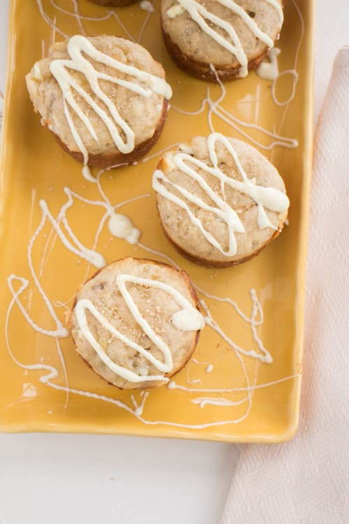 Frosting on Banana Muffins