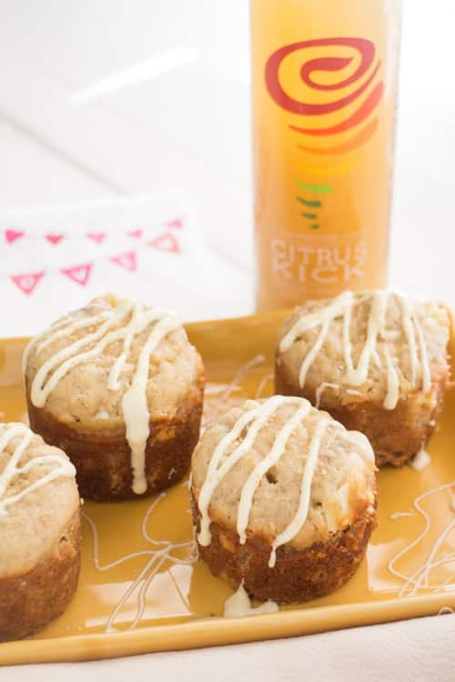 Delicious recipe for Banana Muffins made with white chocolate chips. These are perfect for a hearty breakfast on the go! Baking time is 20 minutes and makes 8 regular size muffins