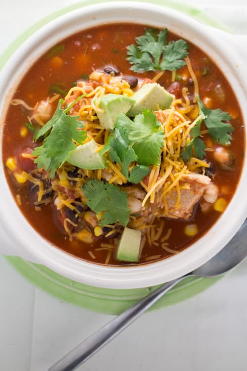 Authentic Chicken Tortilla Soup recipe!  This easy to make tortilla soup is made with a handful of ingredients that you already have in your kitchen!  I based this recipe on my favorite NYC Mexican restaurant - now I can make it healthy at home!