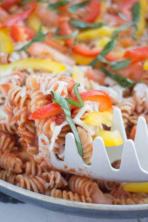No Boil Rotini Pasta With Plenty of Vegetables_10