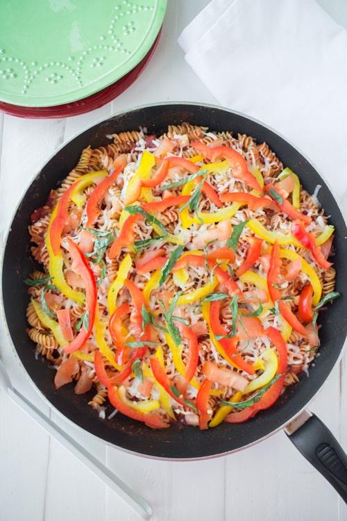 No Boil Rotini Pasta With Plenty of Vegetables_6