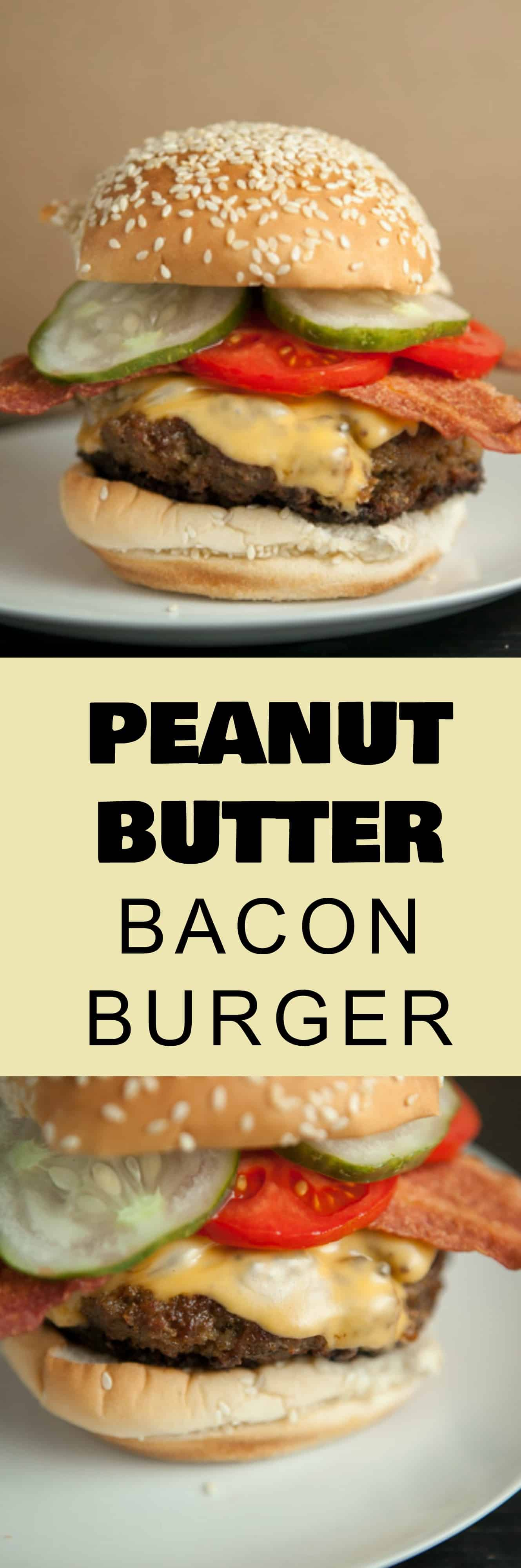 Life changing Peanut Butter Burger recipe!  This healthy burger recipe is easy to make with ground turkey, bacon, cheese and creamy peanut butter.  Give it a try!