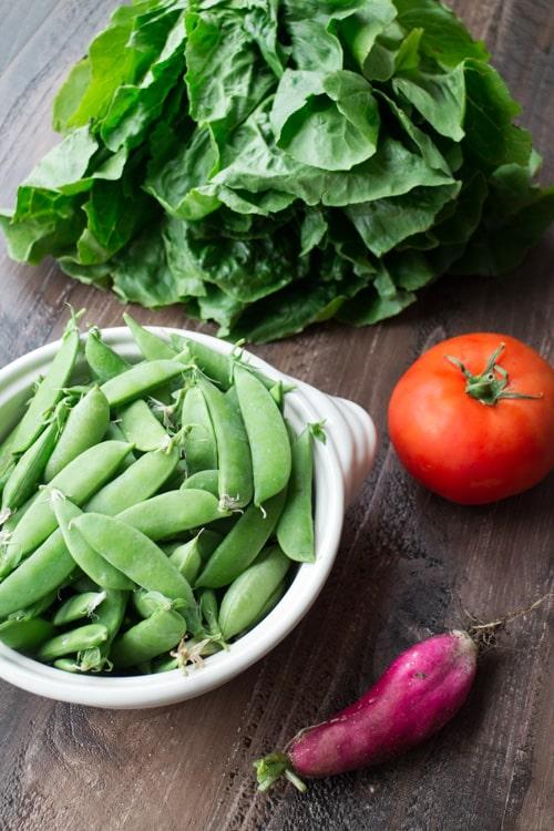 Simple Pea Garden Pasta