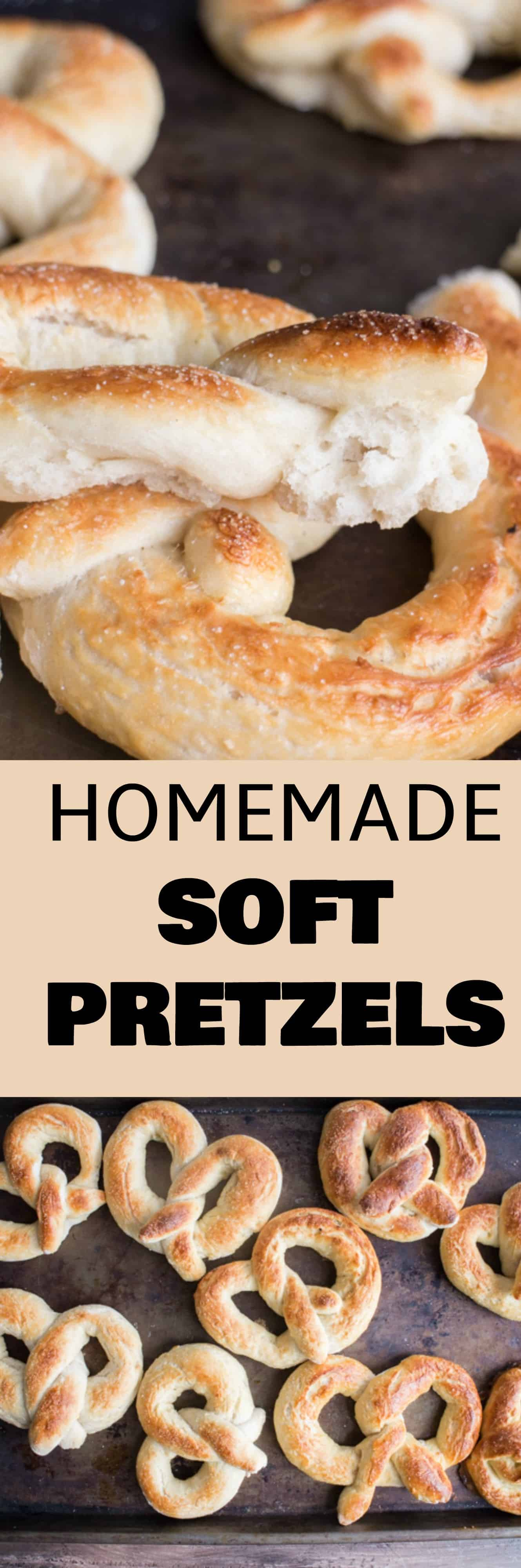 HOMEMADE Soft Pretzels Recipe! You won't believe how easy it is to make buttery soft pretzels at home!  This recipe shows you how to make them with step by step instructions.