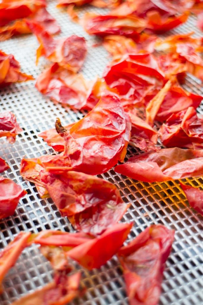 crispy tomato skins