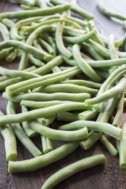 garden green beans cut