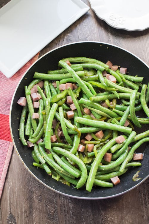 You'll love this 15 minute Chinese Buffet Green Beans With Ham recipe, it's just like the Chinese restaurant!