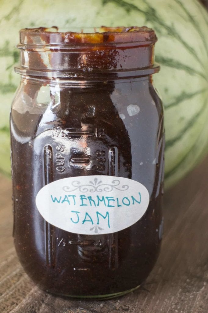 HOMEMADE Watermelon Jam! This easy to make jam recipe uses fresh watermelon juice to make a healthy jam. No pectin is needed for this recipe, just throw it in the refrigerator when it's done! This is one of the best fruit jams, I love eating it on toast!