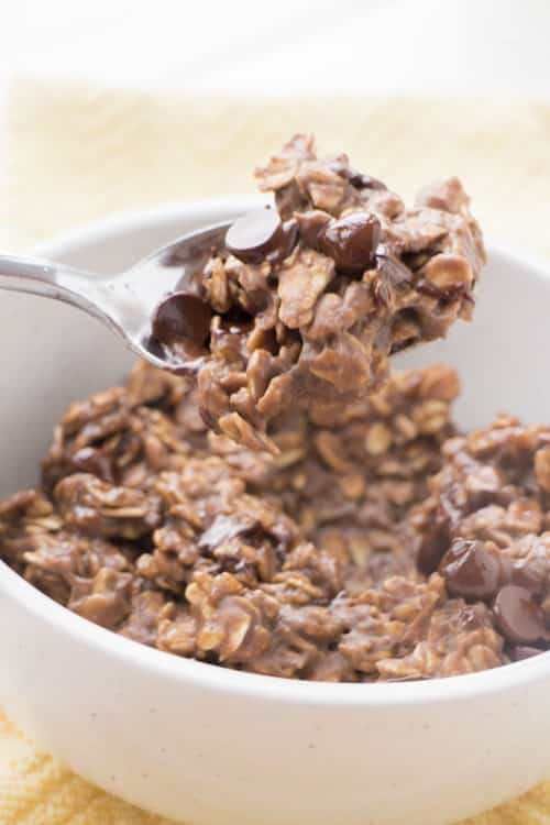 A protein packed Double Chocolate Protein Oatmeal breakfast recipe! Who doesn't want chocolate for breakfast?