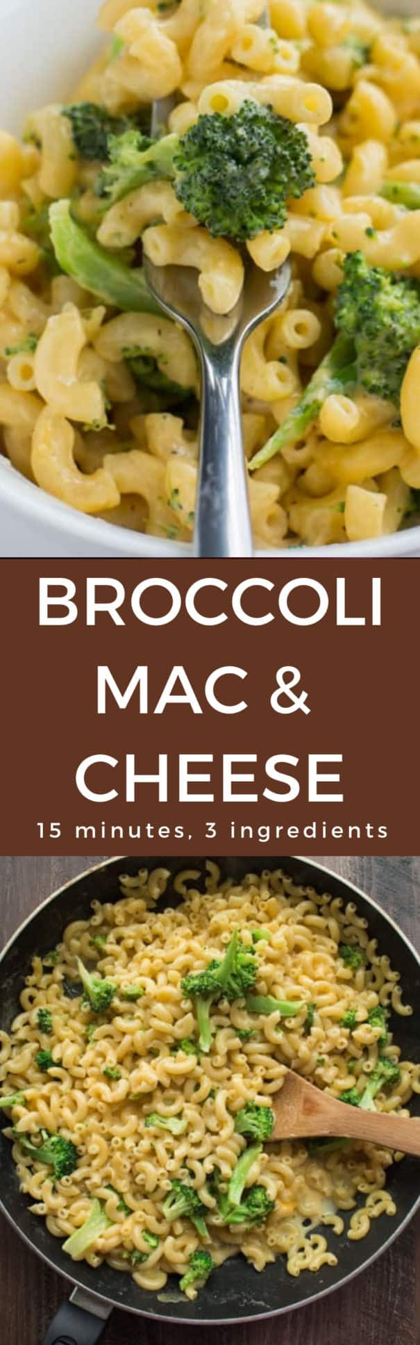 This stovetop 15 Minute Broccoli Mac and Cheese is made with just 1 pot and only 3 ingredients. Grab your pasta, Velveeta cheese and broccoli and make this easy creamy homemade mac and cheese recipe for dinner soon! Kids will love how delicious it tastes! And adults will love how simple it is to make!
