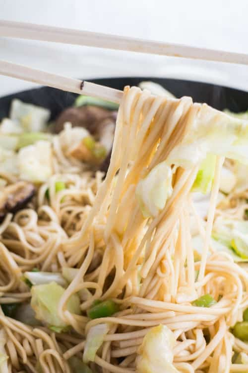 10 Minute Easy Vegetable Lo Mein Brooklyn Farm Girl