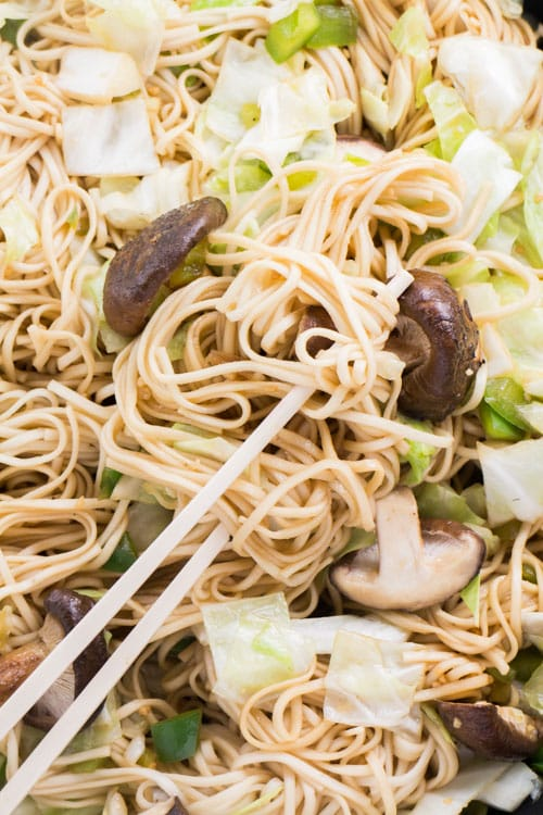 Vegetable Lo Mein. Now you can make your favorite Chinese restaurant dish at home!