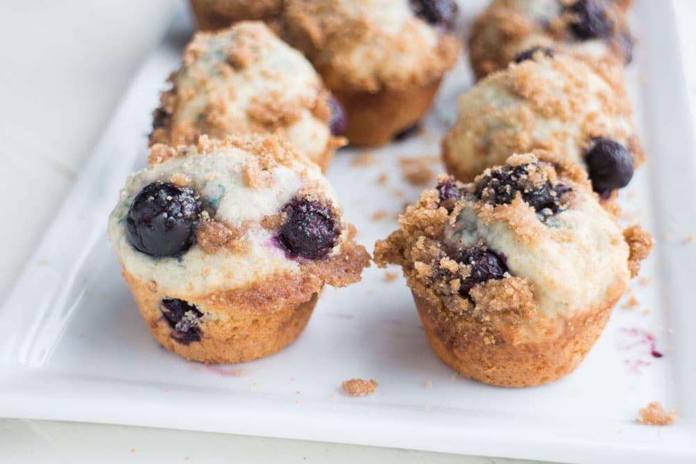 Mini Blueberry Crumble Muffins - Brooklyn Farm Girl