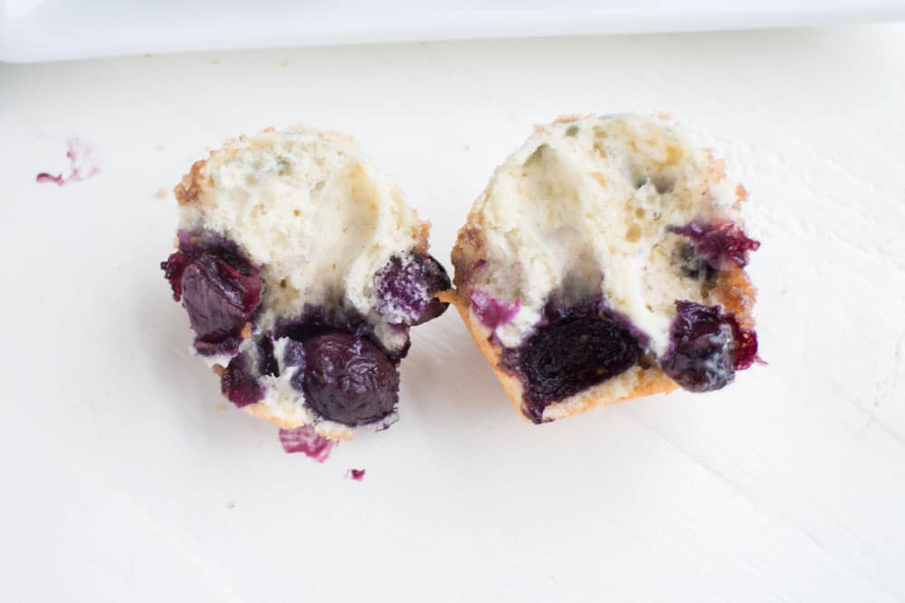 These Mini Blueberry Crumble Muffins are moist, they're tasty, and they have the most delicious crumble on top!