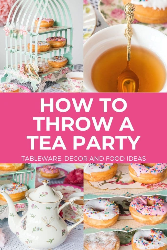 How to throw a tea party on a budget! Ideas for food, tea,  decorations, tableware, music and more are included to make it the best party ever!