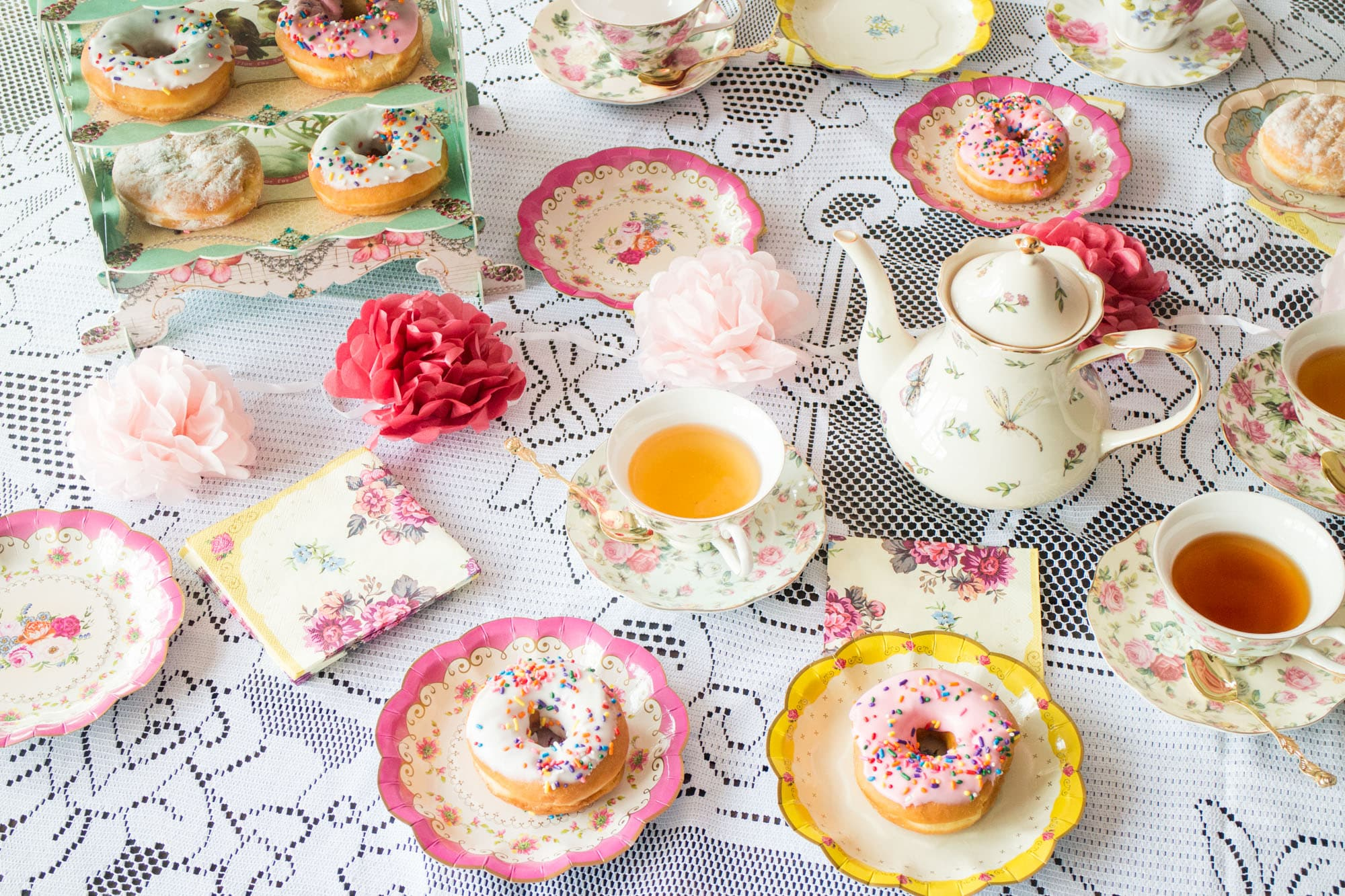 Grandparents grandchildren's mad hatters tea party