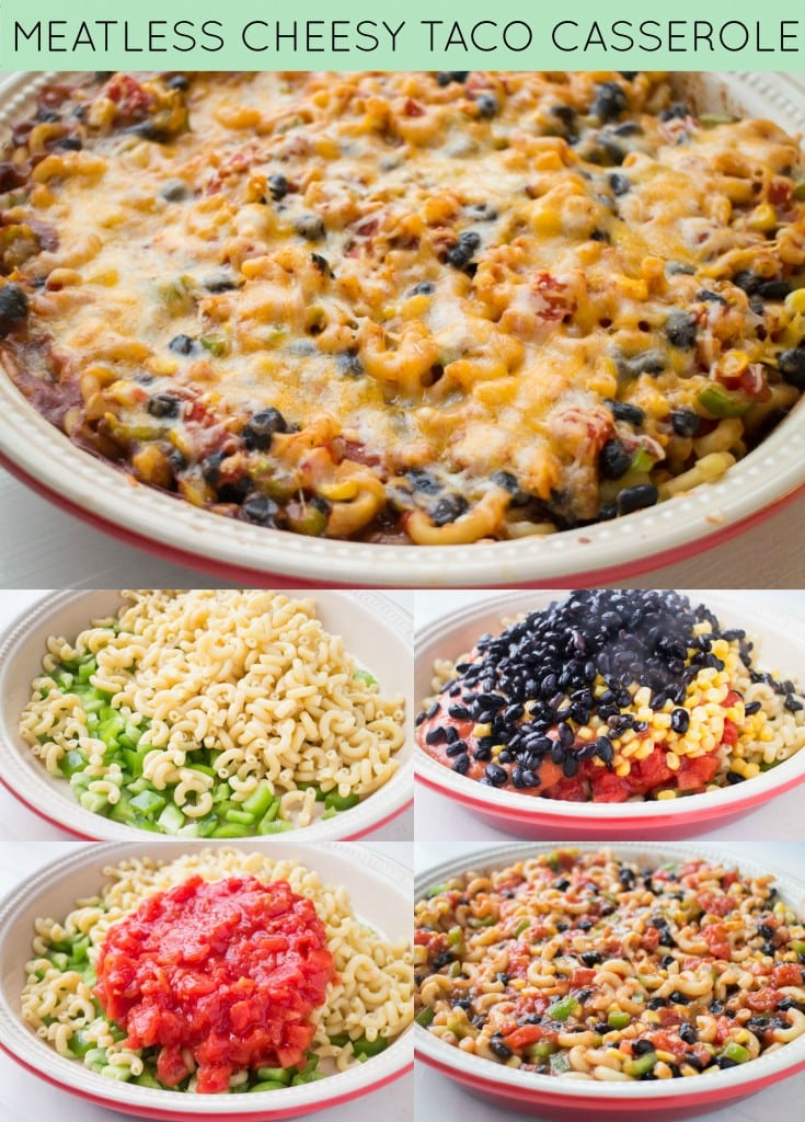 Meatless Cheesy Taco Casserole Recipe