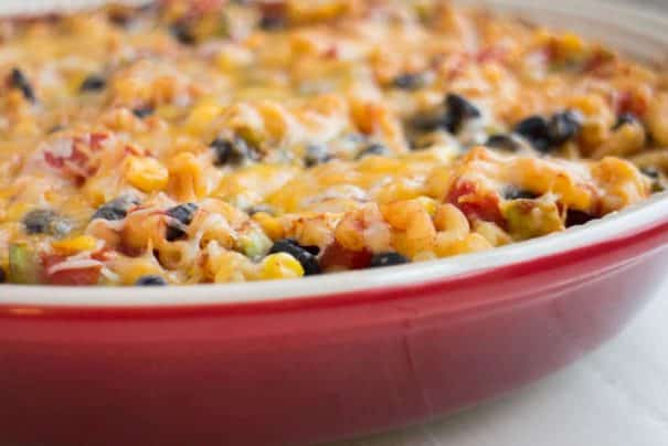 Easy to make Vegetarian Taco Casserole recipe. Instead of meat, we use lots of vegetables and beans. This Mexican Casserole takes 30 minutes to bake.