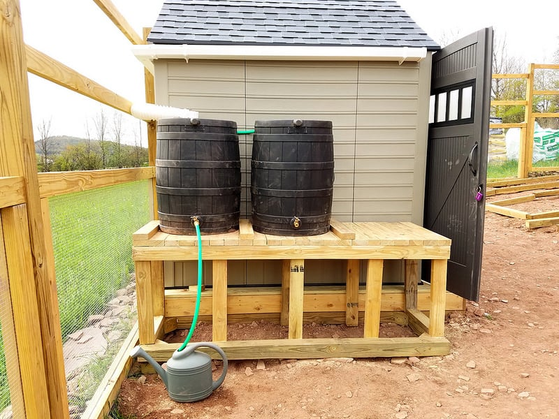 How To Build A Rainwater Catchment On A Shed Roof