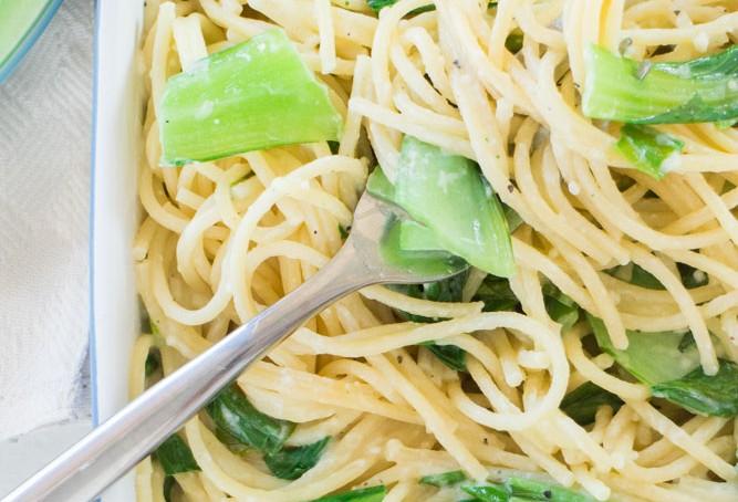 bok choy tomato pasta