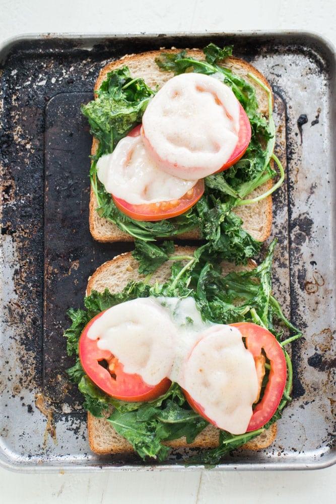 Melted Kale Arugula Cheese Sandwich_7