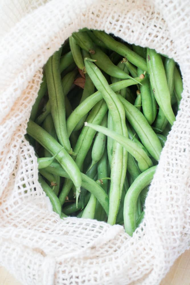 Easy step by step instructions on how to freeze fresh green beans without blanching.  These green beans will last up to a year. You can use them in casseroles, soups, stir fry and more!