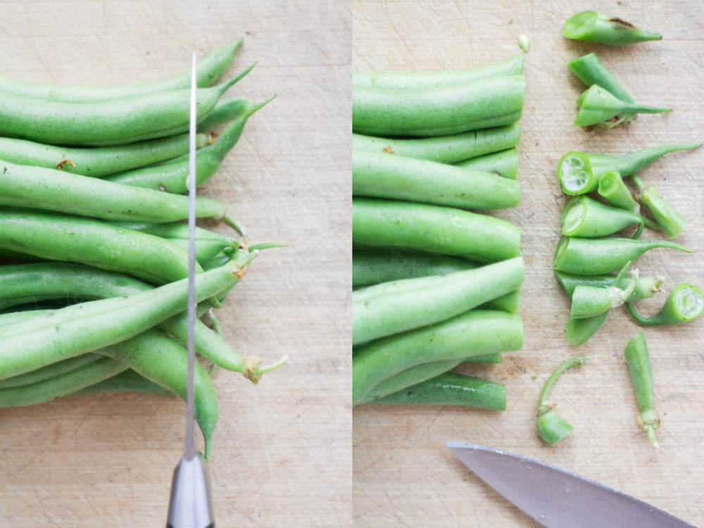 Easy step by step instructions on how to freeze green beans without blanching. These green