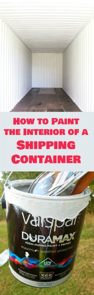 How to Paint the Interior Of a Shipping Container. Tips, Tricks and Safety.