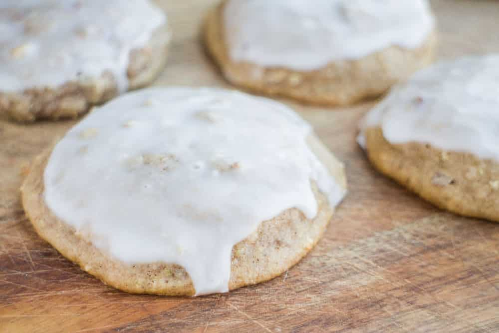 Chewy yummy Frosted Cucumber Cookies are classic tasting cookies but made with 1 cup grated cucumber to add some nutrients! The cookies are soft and you will fall in love with the frosting on top! It's the perfect cookie to make for your family!