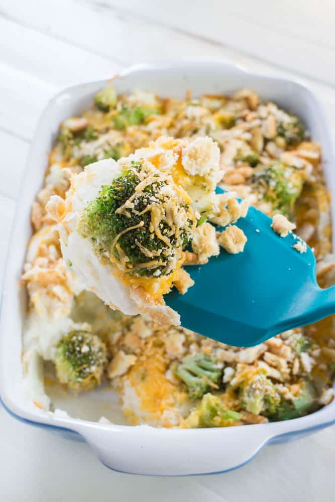 Instant Mashed Potatoes Cheesy Broccoli Casserole is a comfort food dish that will have your entire family begging for more! It uses Instant Mashed Potatoes so it's easy to make. It's the perfect side dish for the holidays because it's cheesy and delicious and only takes 5 minutes to prepare, 25 minutes to bake.