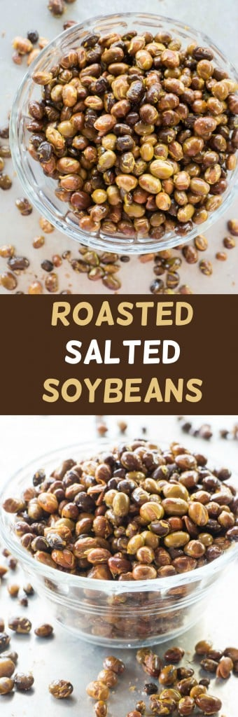 Salted Roasted Soybeans recipe using fresh soybeans.  This baked recipe is so easy to make! These are perfect for healthy snacking!