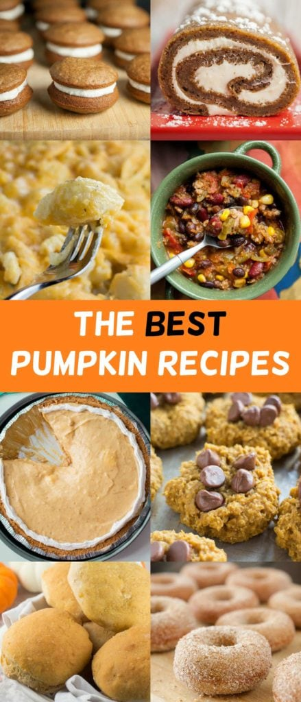 This is a great collection of pumpkin recipes - from savory macaroni and cheese to sweet whoopie pies. Enjoy these pumpkin recipes during Fall season - the best time of the year!