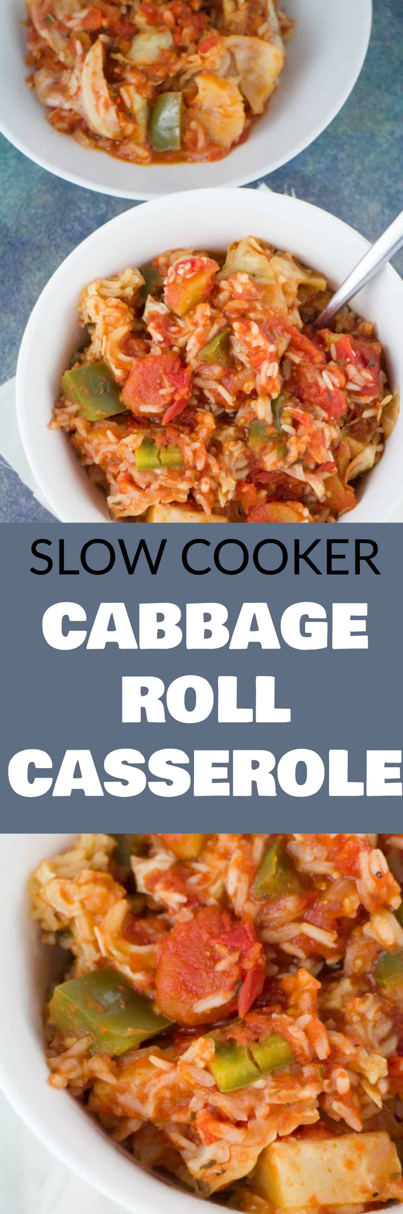 SLOW COOKER Cabbage Roll Casserole! This easy recipe is made in the crockpot and ready in 4 hours! This is a Polish family recipe called Halupkie!
