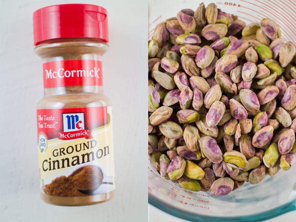 Easy to make Cinnamon Sugar Pistachios is a delicious snack recipe! These are perfect for snacking on year round, especially for the holidays!