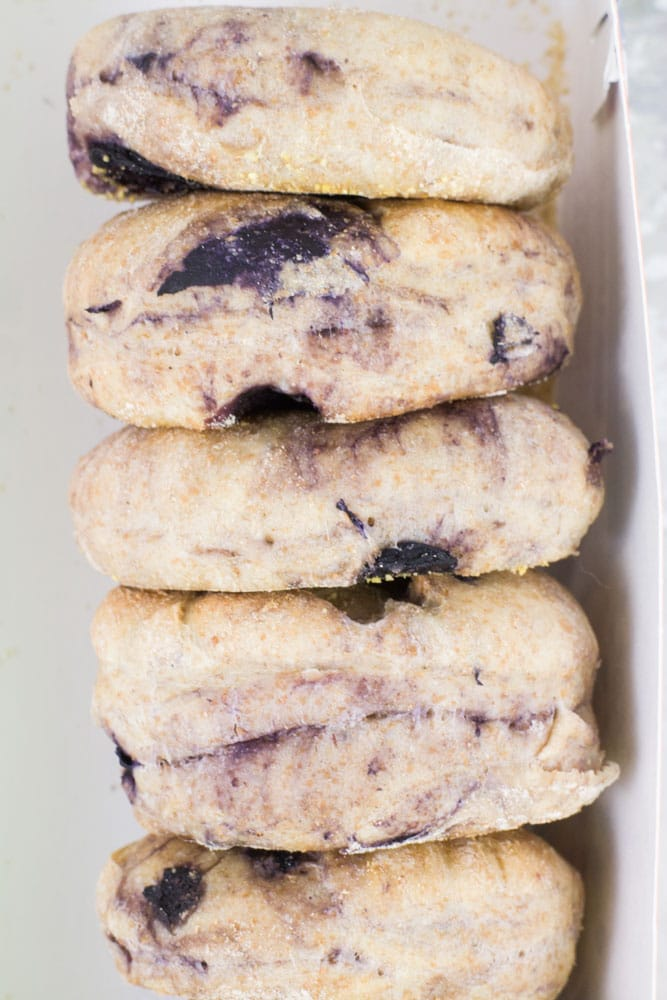 HOMEMADE Blueberry English Muffins! You're going to love this easy to make breakfast recipe! Save money and start making your own English muffins instead of buying the store bought ones. These ones are much more delicious and healthy! I love having one of these muffins with a cup of tea!