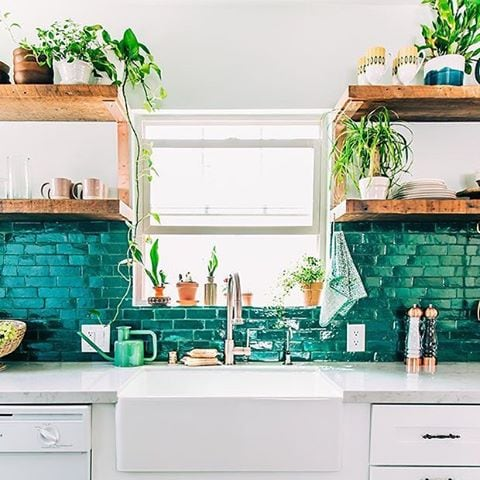 Small Kitchen Inspiration on a Budget - Brooklyn Farm Girl