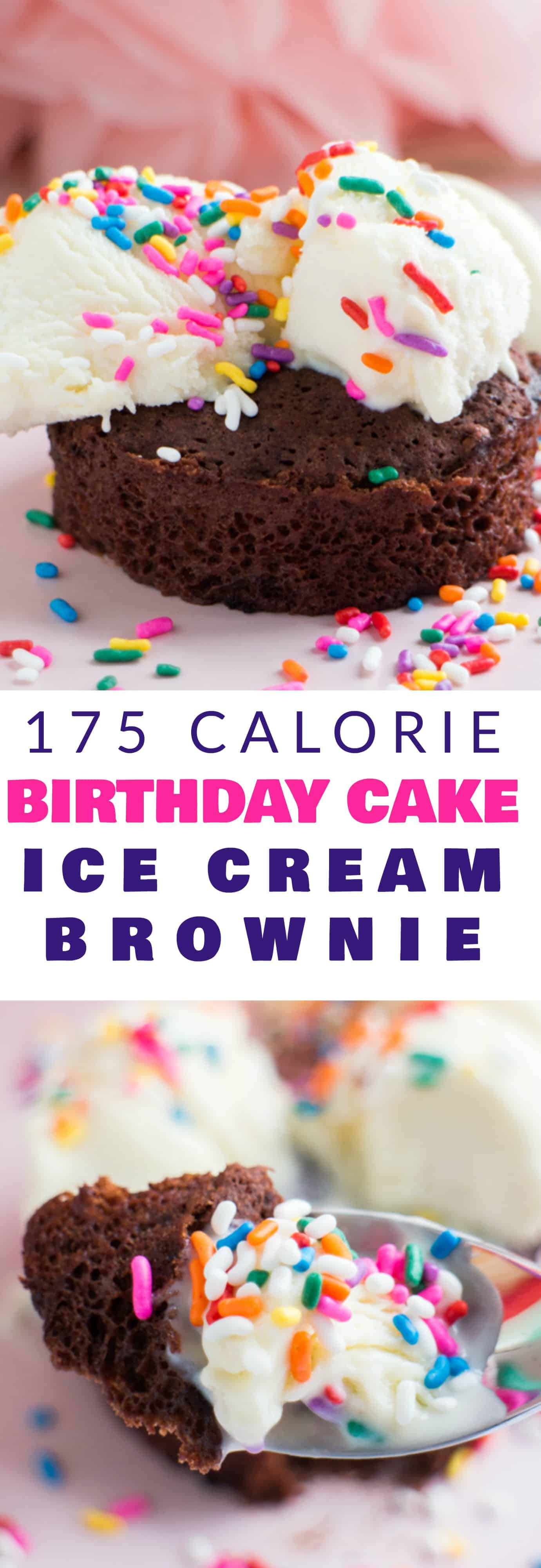 175 Calorie Birthday Cake Ice Cream Brownie Brooklyn Farm Girl
