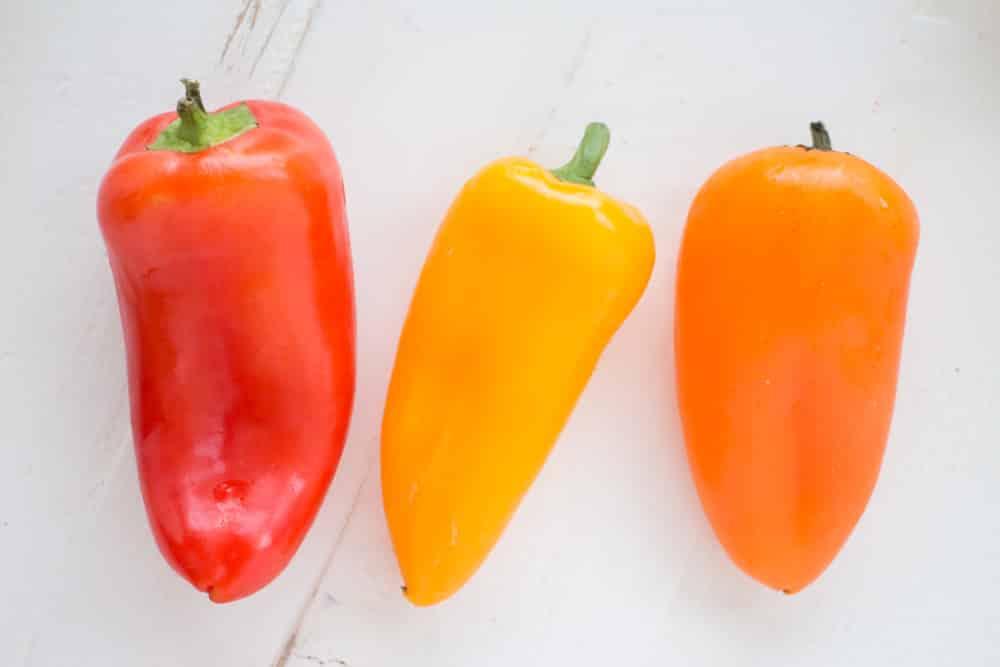 Orange Mini Sweet Peppers