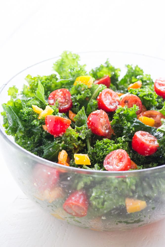 Kale Salad with Cherry Tomatoes