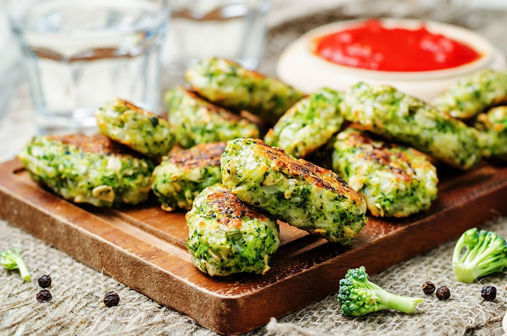 Baked Broccoli and Cheese Sticks