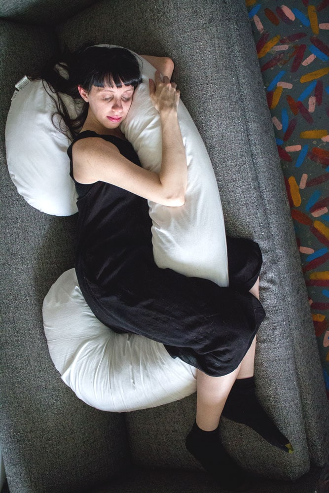 Snoogle Pillow Positions for Pregnancy