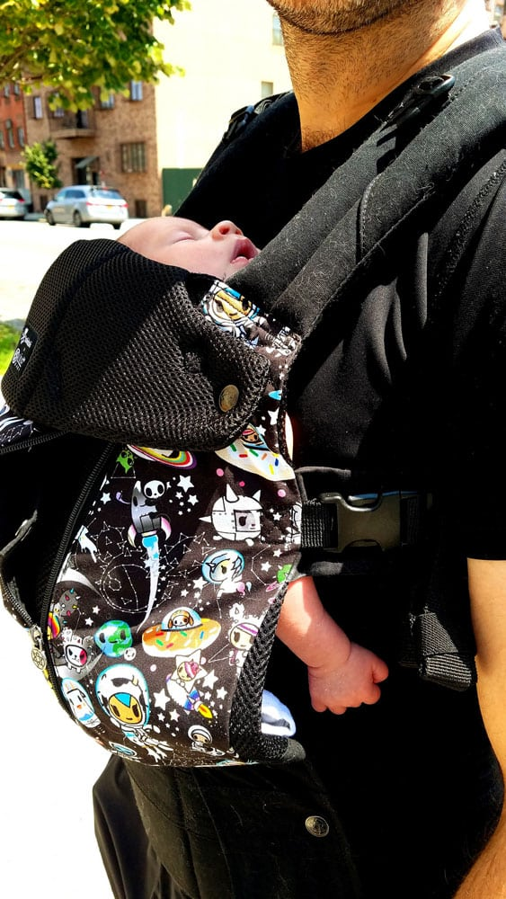 Time to go on our first family walk with Enceladus while wearing our lillebaby tokidoki Complete All Seasons carrier!