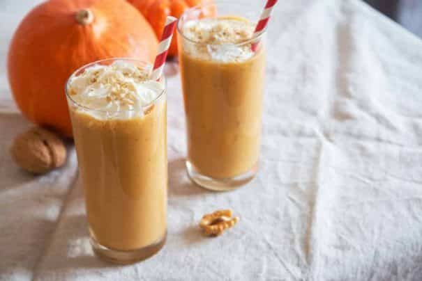 Easy PUMPKIN PIE Milkshake! This easy milkshake recipe uses 1 slice of PUMPKIN PIE to make the BEST tasting pumpkin milkshake! This drink is one of those 4 ingredients desserts, including vanilla ice cream and milk!  It's a perfect Fall Thanksgiving dessert and is a great solution if you have too much pumpkin pie!