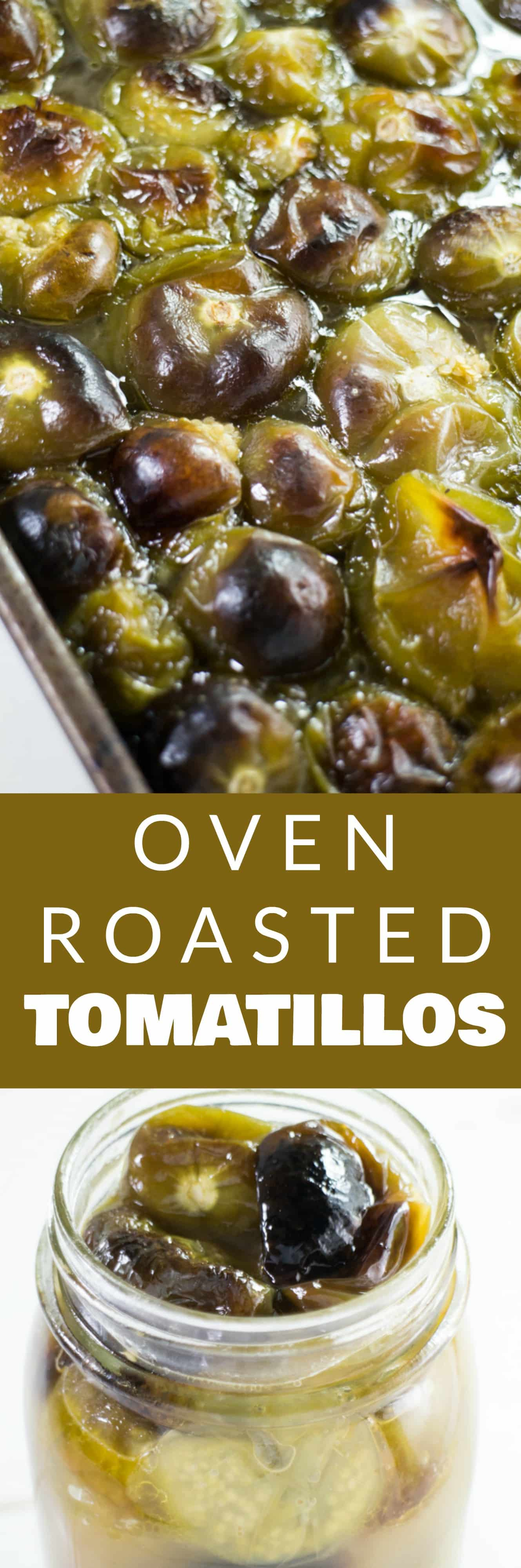 EASY, OVEN ROASTED Tomatillos Recipe! Shows you how to cook tomatillo! This tomatillo sauce is DELICIOUS and can be used as a soup stock, chicken tacos salsa, served over rice and so much more! This recipe is canning and freezing friendly, perfect for preserving a overabundance of garden tomatillo plants!