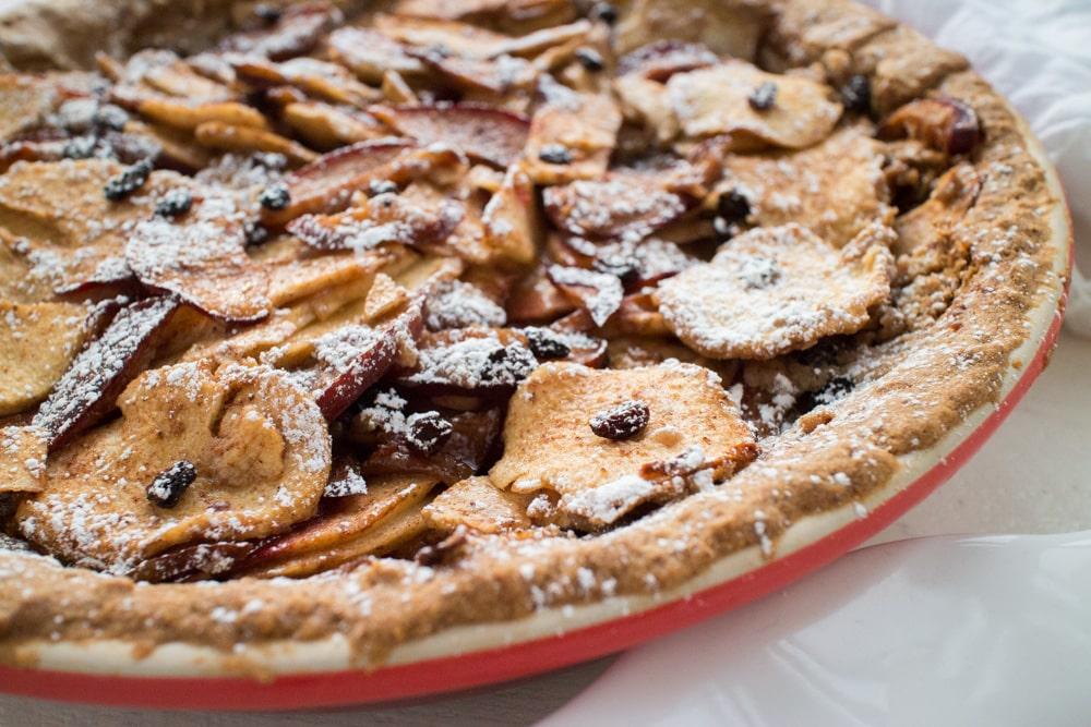 Perfect for CHRISTMAS, GLUTEN FREE Sugar​ ​Plum​ ​Apple​ ​Currant​ ​Pie! This easy to make pie recipe shows you how to make a gluten free pie crust using pecans, brown sugar and gluten free flour. The fruit filling is tossed with sugar and spices to make a delicious pie! This is one of the best pies, perfect for Christmas and Thanksgiving! I can promise you that no one will know that it's GLUTEN FREE!