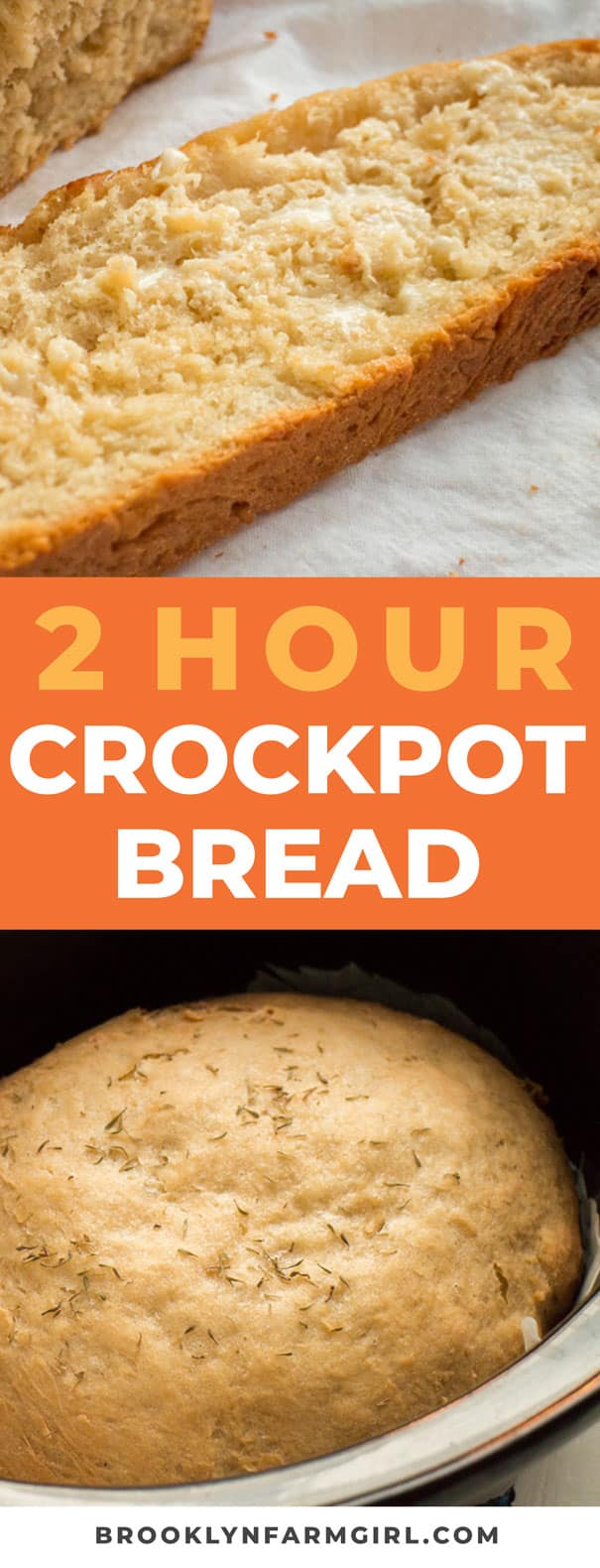 Easy to make 2 HOUR Crockpot Bread recipe. Throw it in the crock pot and you will have soft homemade bread in 2 hours! This is the best bread to serve with creamy soups and casseroles.