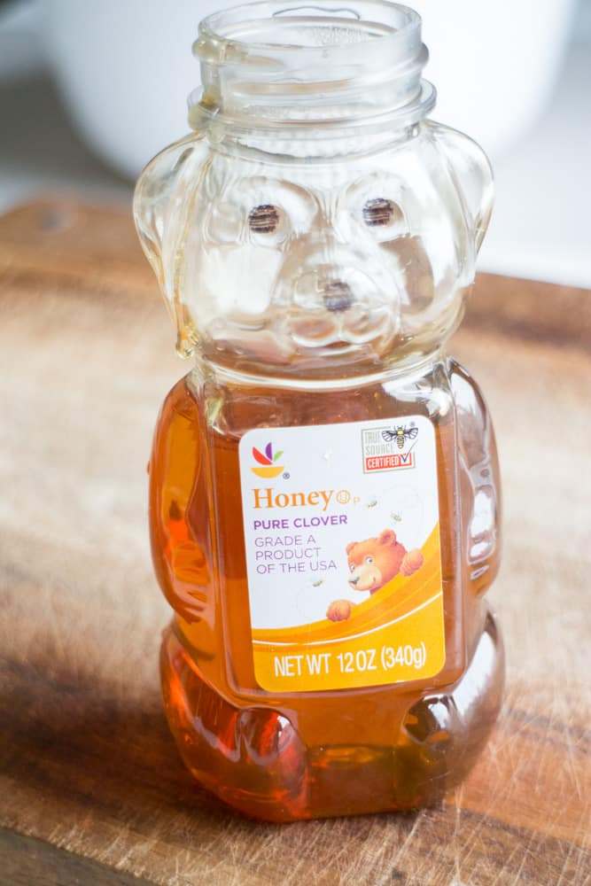 Honey in Bear Container