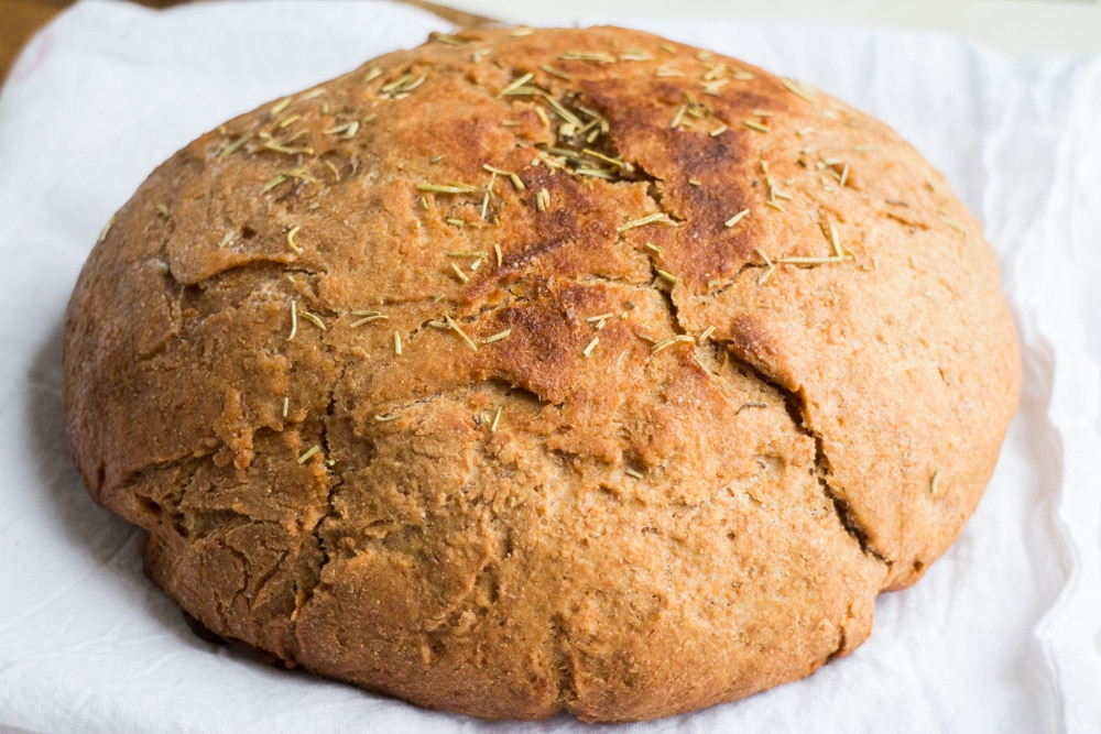 Rosemary Flaky Whole Wheat Bread