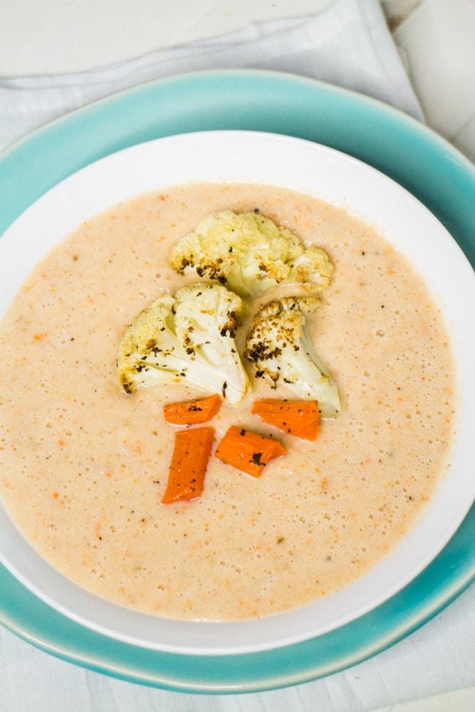 Creamy Dairy Free Cauliflower Soup